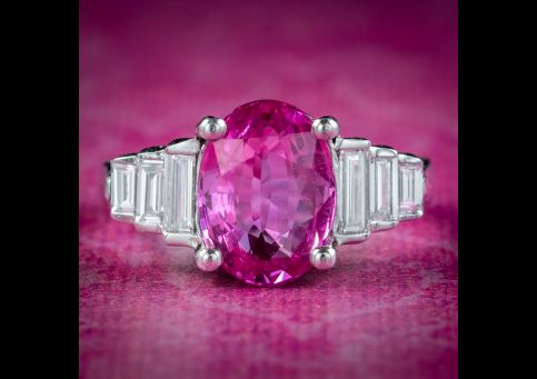 Art-Deco-Style-Pink-Sapphire-Diamond-Ring-2.20ct-Sapphire-With-Cert-cover