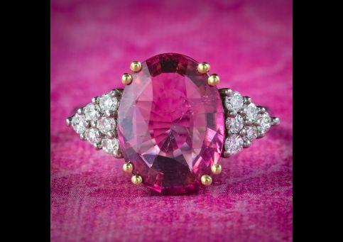 Art-Deco-Style-Pink-Tourmaline-Diamond-Ring-5ct-Tourmaline-cover