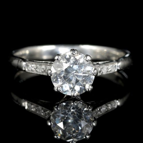 with shoulders edwardian rings ring solitaire diamond product set c jewellery twist engagement