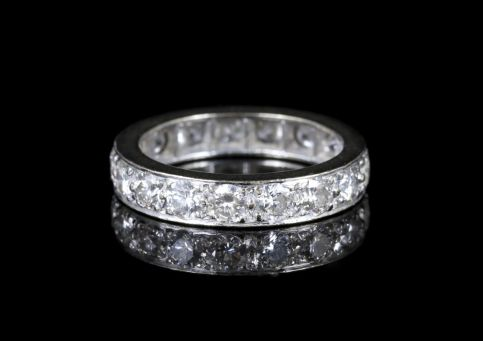 Antique Edwardian Diamond Eternity Ring Platinum Circa 1915