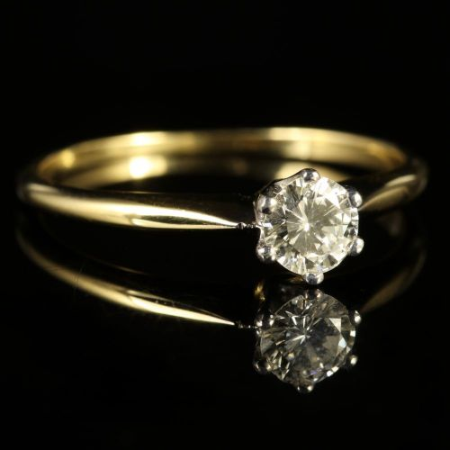 antique victorian diamond solitaire engagement ring 18ct. Black Bedroom Furniture Sets. Home Design Ideas