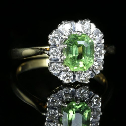 Dollar Peridot Engagement Ring