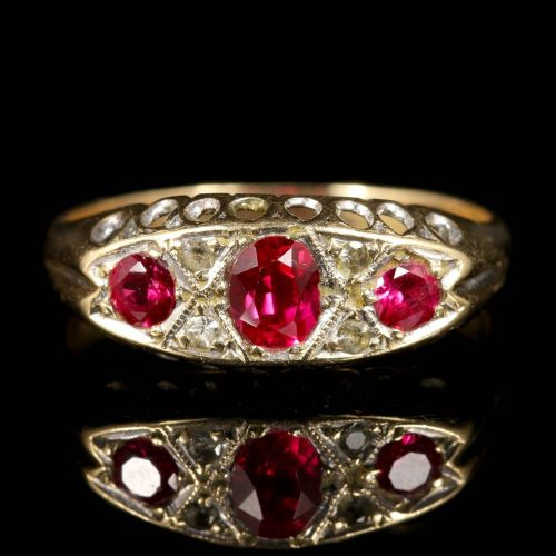 halo custom and diamond ring ruby rings engagement vintage antique