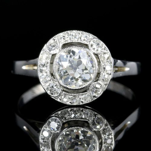 solitaire engagement and diamond mounting vatche platinum crossed cfm round ring detail